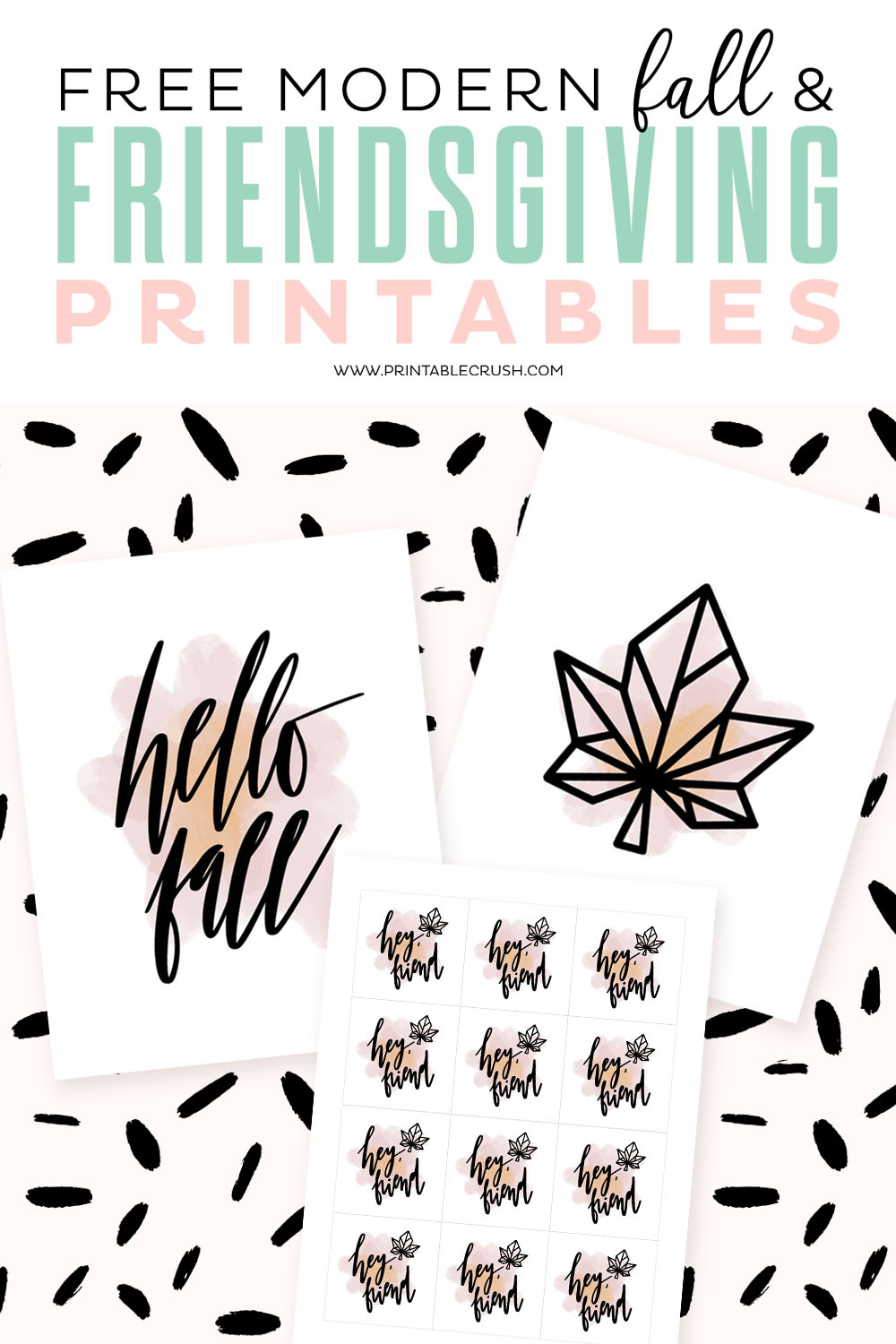 Free Modern Fall and Friendsgiving Printables - perfect for your Thanksgiving party this year!