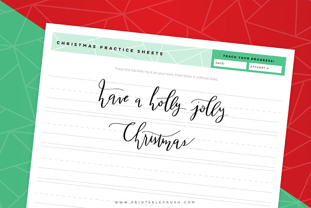 image relating to Free Calligraphy Worksheets Printable identify 4 Cost-free Xmas Calligraphy Worksheets - Printable Crush