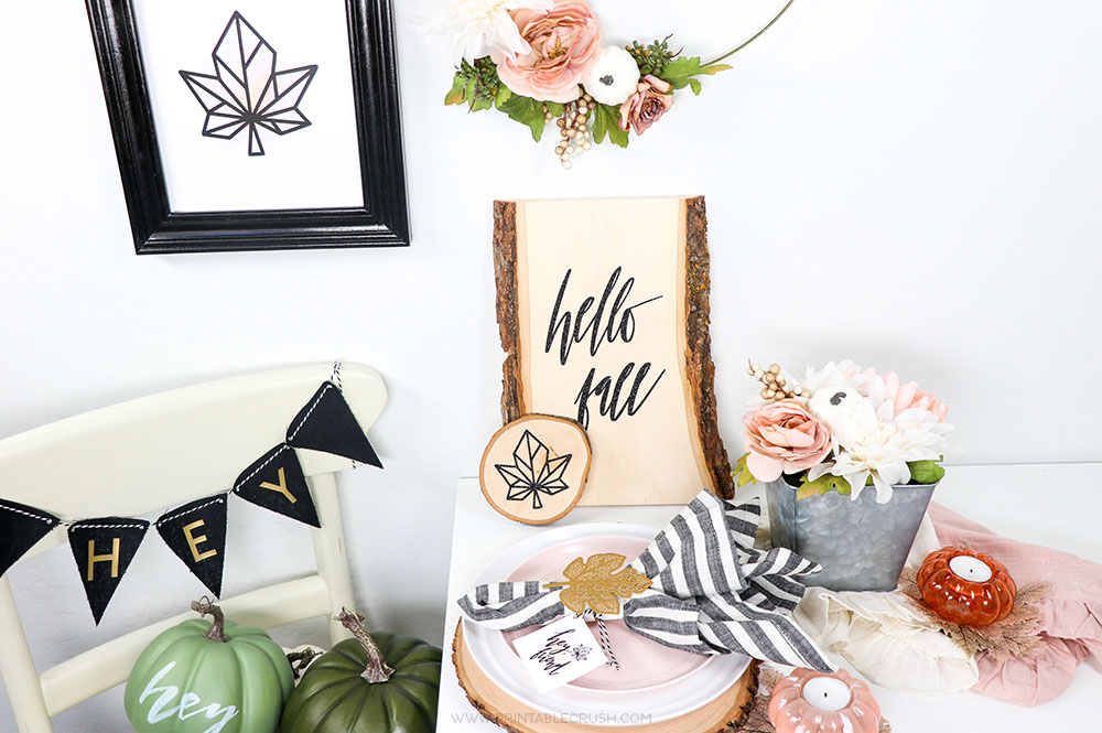 These Modern Farmhouse Fall Home Decor Ideas are so easy to recreate! I have free printables, DIY decor ideas, and more!