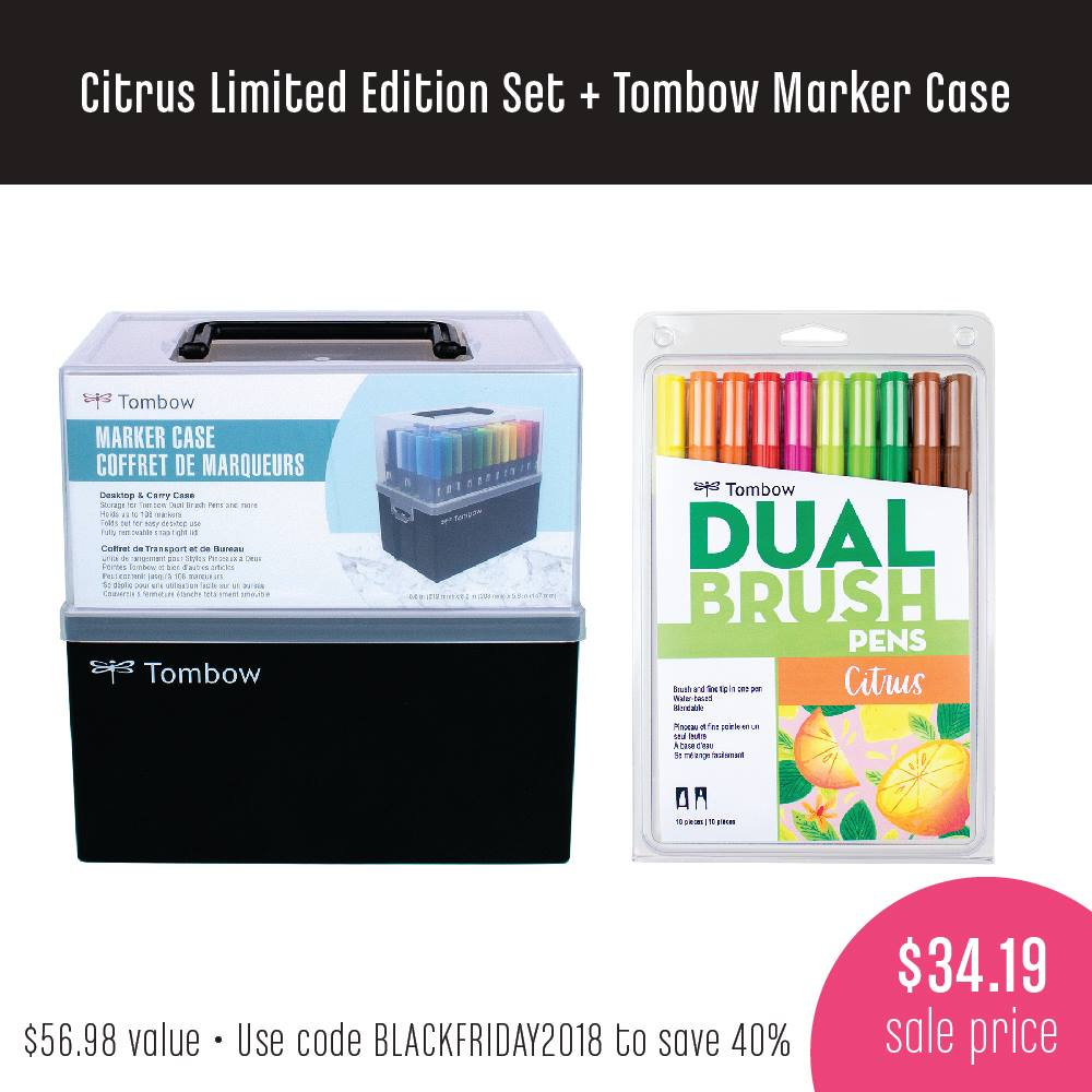 Tombow Dual Brush Pen Case and Citrus Set Black Friday Deal