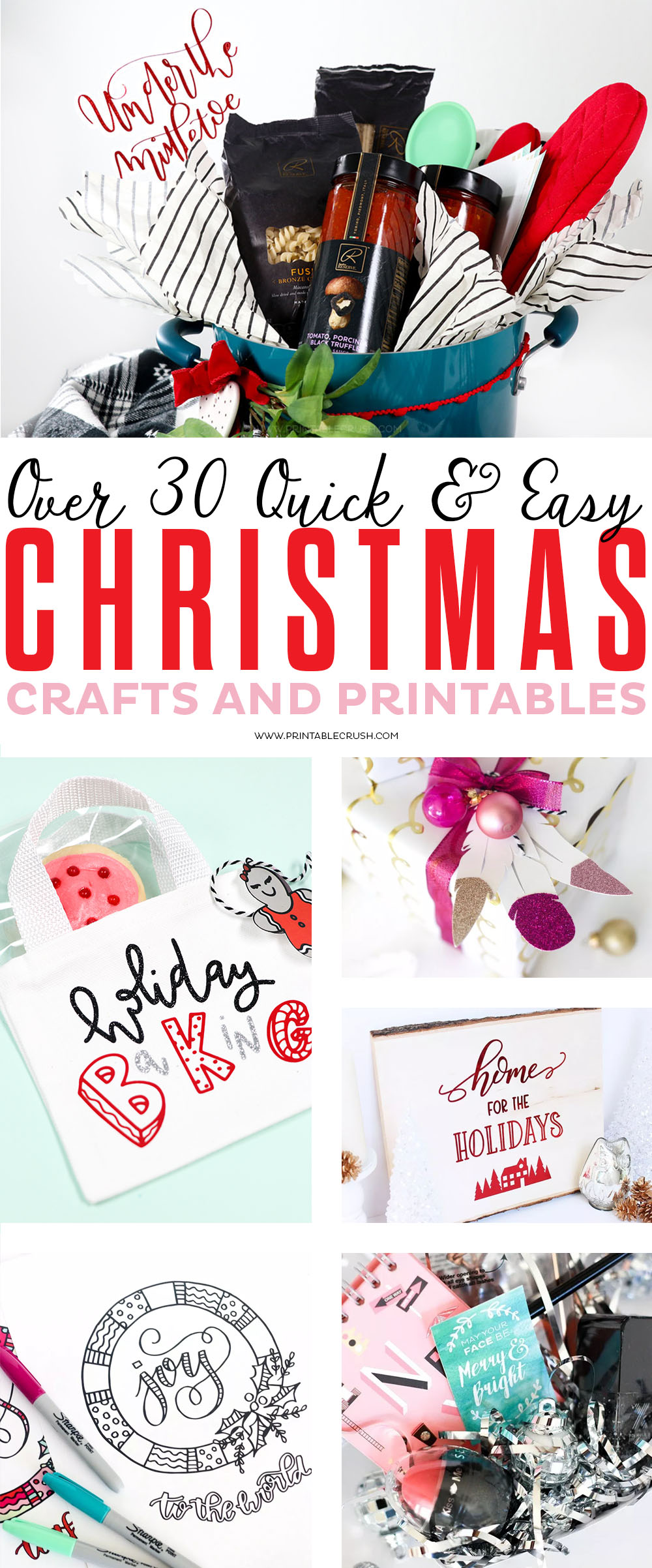 If Christmas is your favorite time of year, then check out over 30 Quick Christmas Crafts, Gift Ideas, and Printables! via @printablecrush