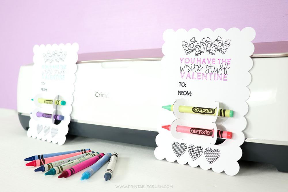 Create these really cute DIY Valentine's Day Classroom Cards with Cricut Pens and the Cricut Maker!