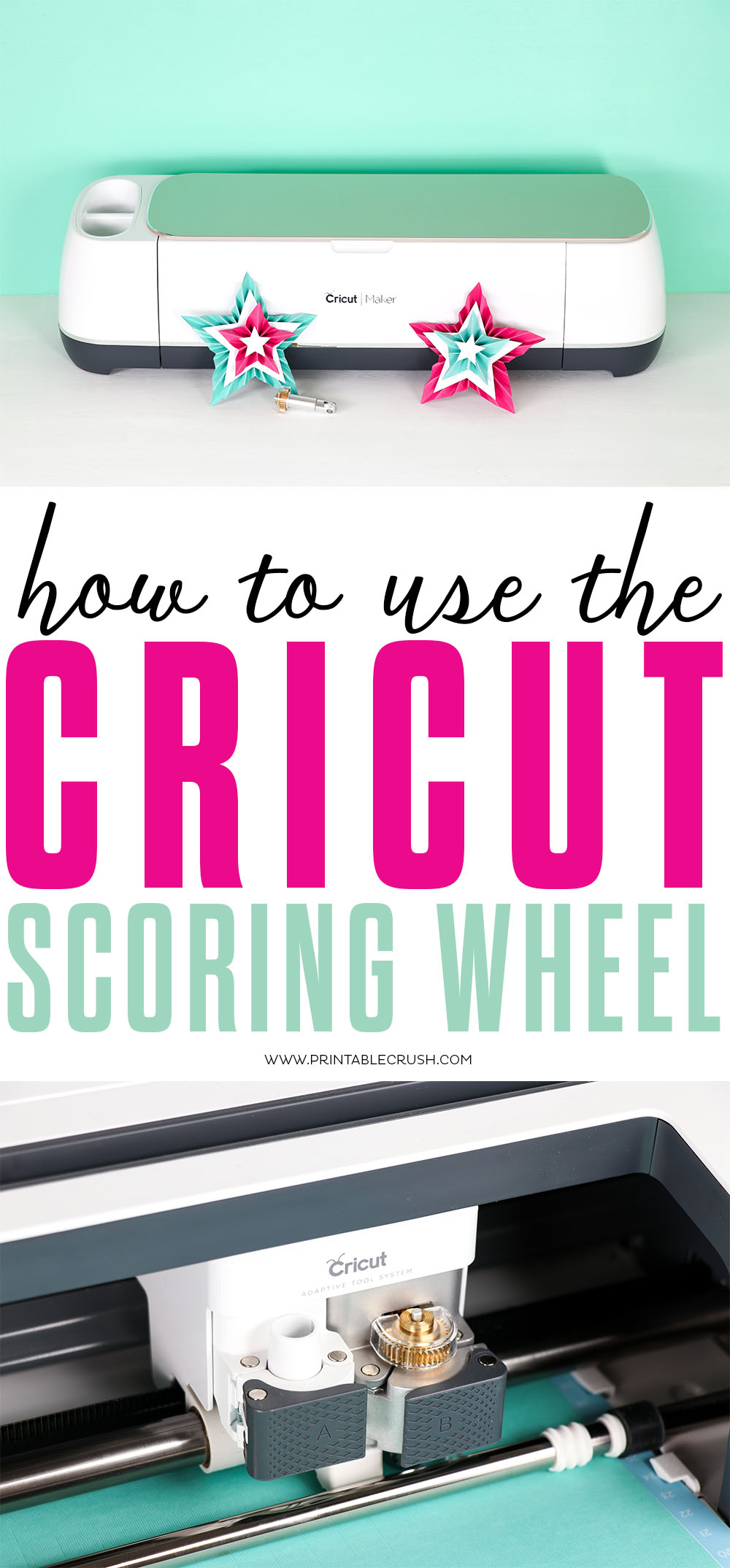 Learn how to use the Cricut Scoring Wheel on the Cricut Maker! Probably the easiest Cricut tutorial ever!