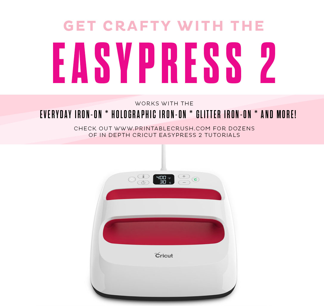 Get crafty with the Cricut EasyPress 2! For use with everyday iron-on, glitter iron-on, holographic iron-on and more!
