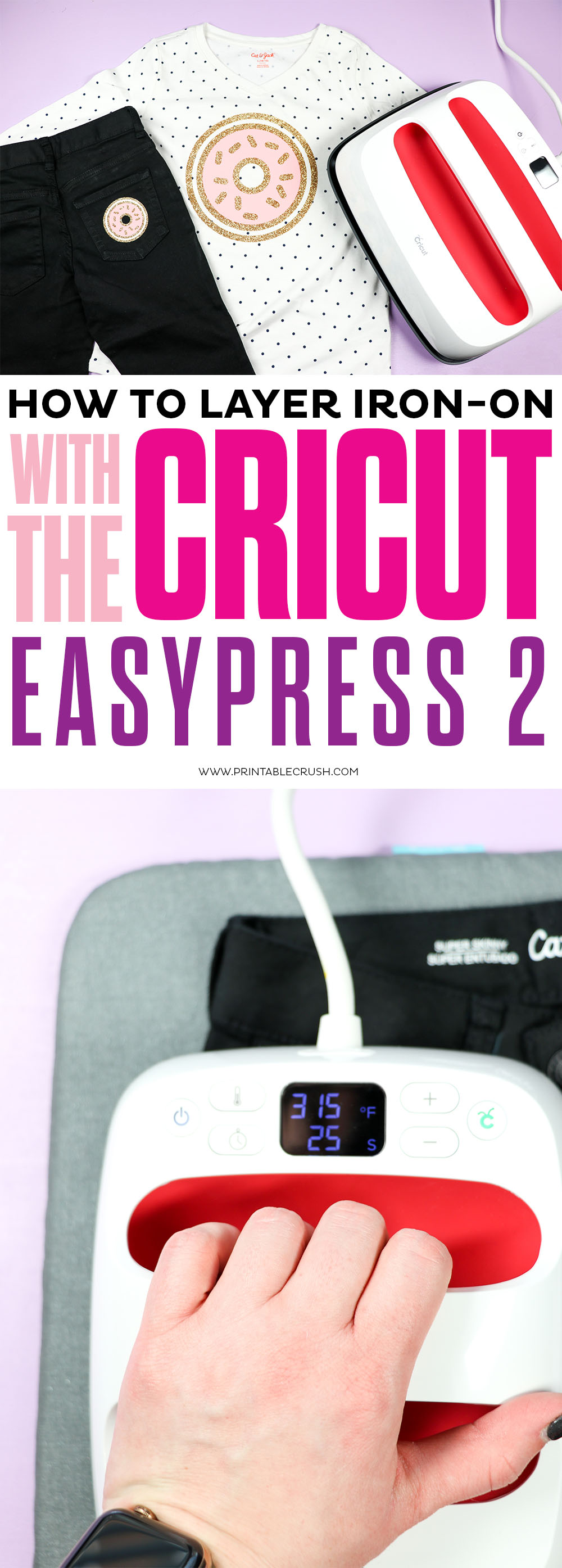 How to layer iron-on with the Cricut EasyPress 2 Don't be intimidated by layering iron-on --it is SO easy!