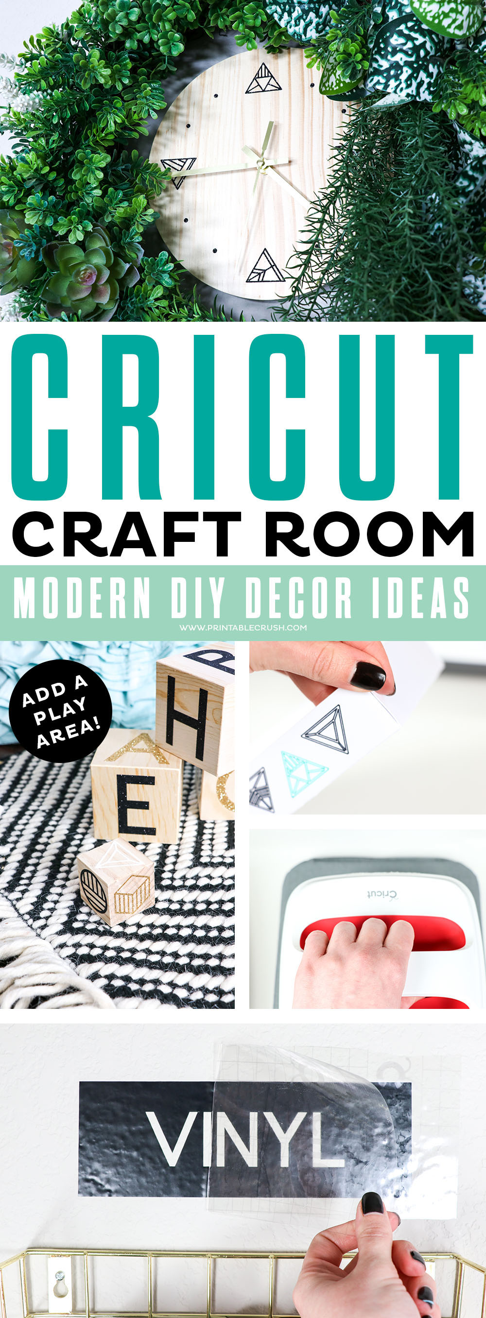 Make your home office modern and unique with these DIY Craft Room Decor Ideas!