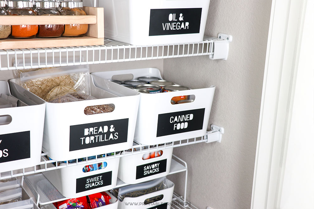 These modern Cricut pantry labels will make your pantry look organized and stylish!