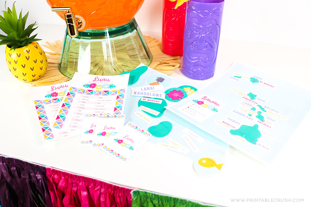 3 FREE Printable Luau Party Games form Printable Crush