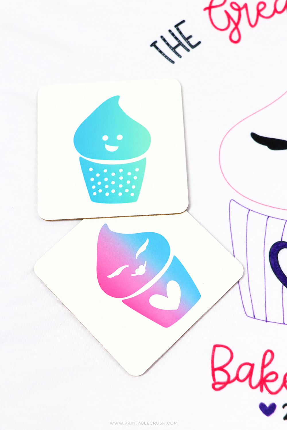 Create these FUN Cricut Infusible Ink Coasters with the Cricut Maker!