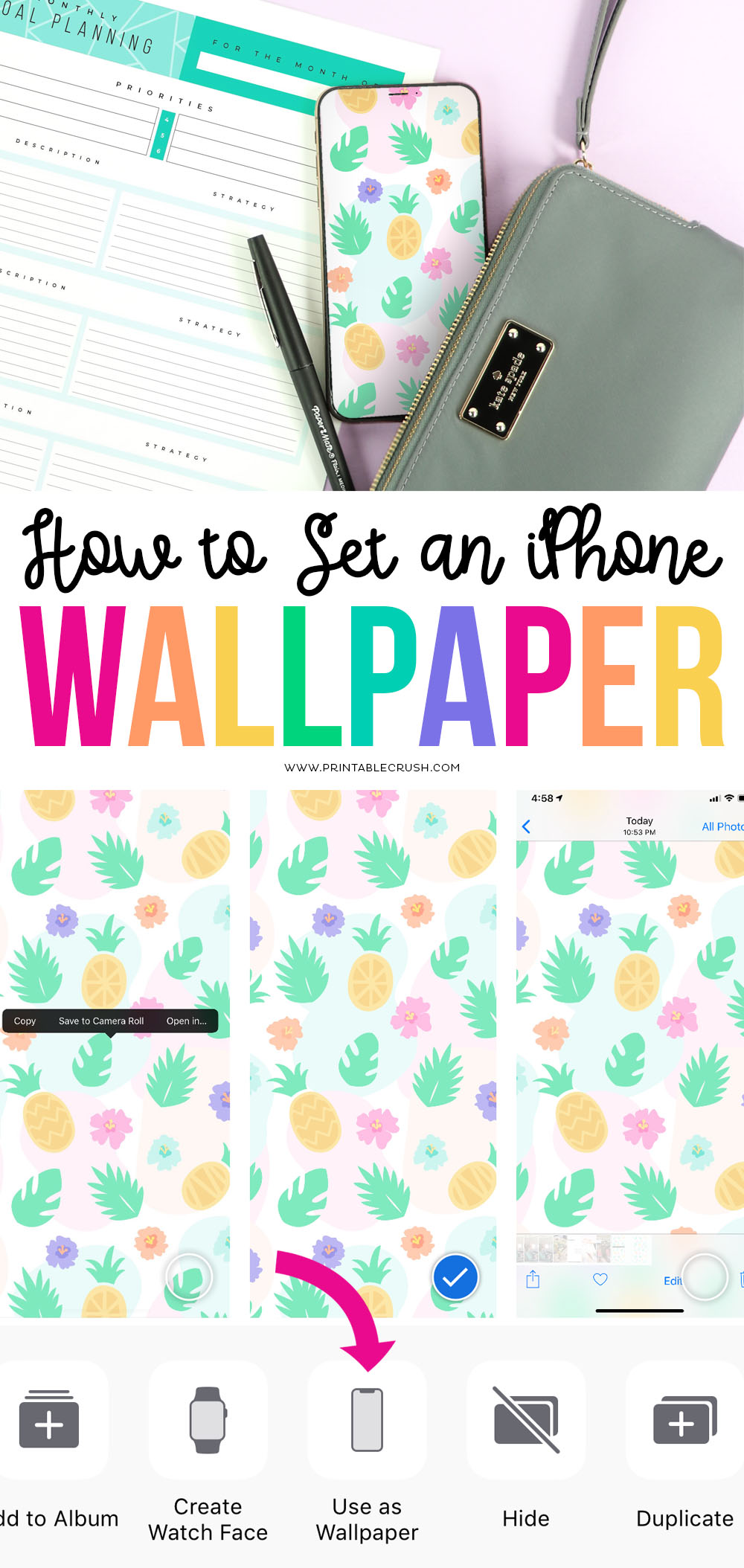 Check out this quick tutorial on How to change your iPhone Wallpaper to any image you want!