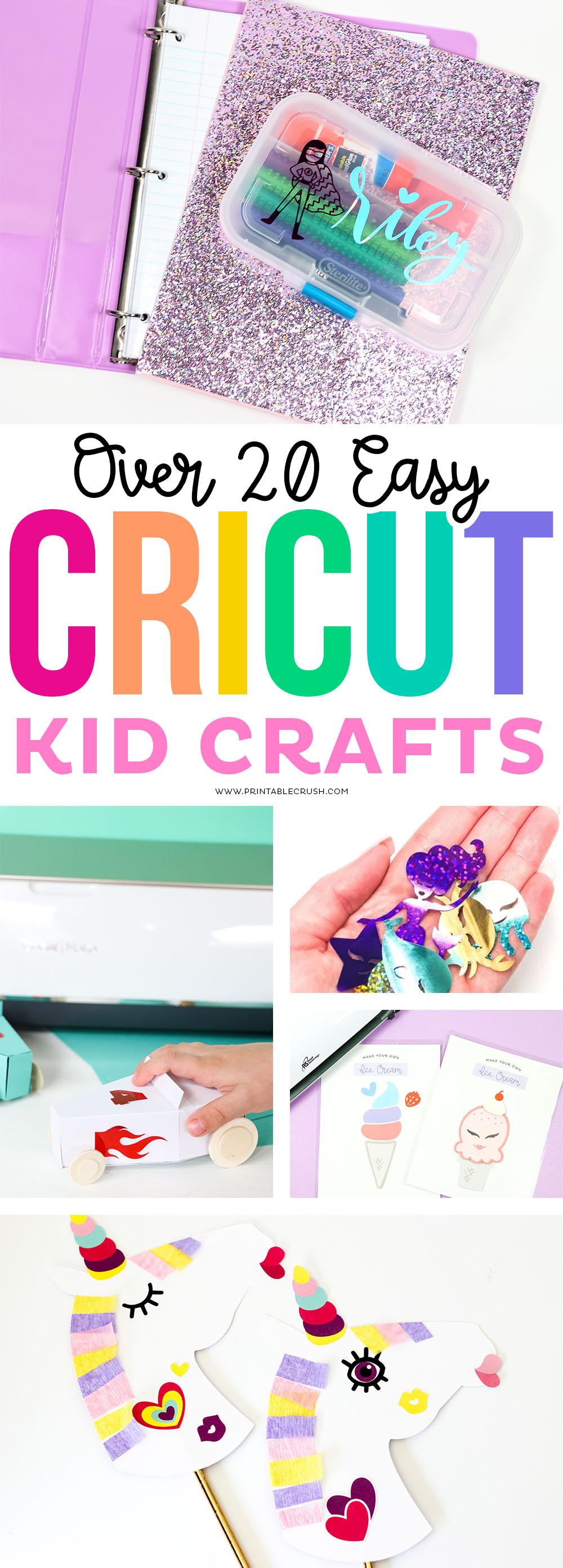 Easy Cricut Kid Crafts via @printablecrush