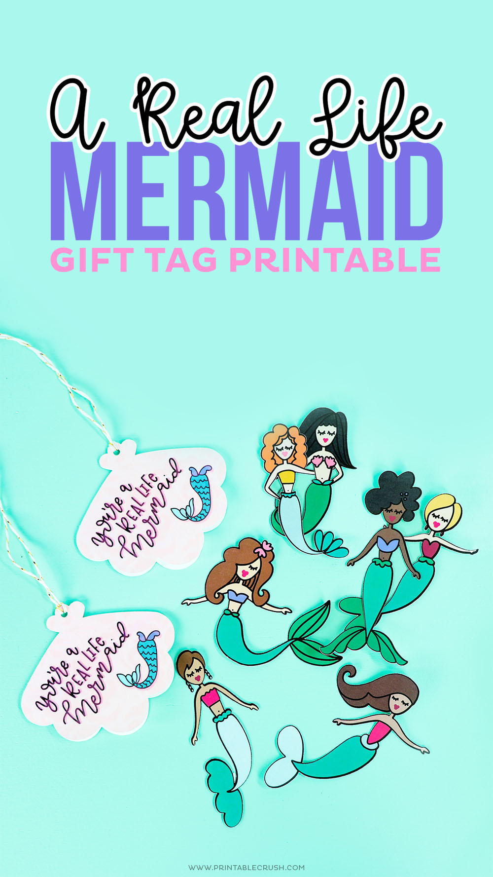 A Real Life Mermaid Gift Tags and Paper Dolls