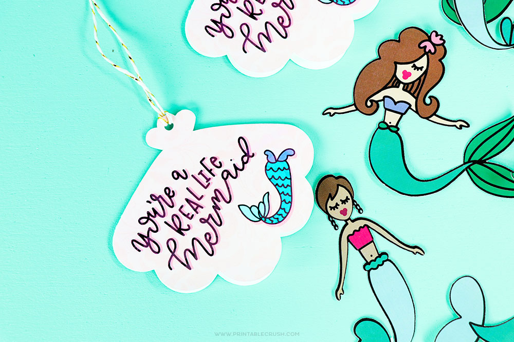 Mermaid Paper Dolls and Gift Tags
