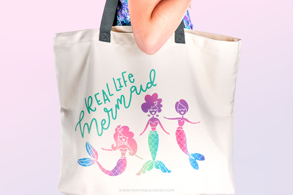 Take this Mermaid tote to your next beach trip!