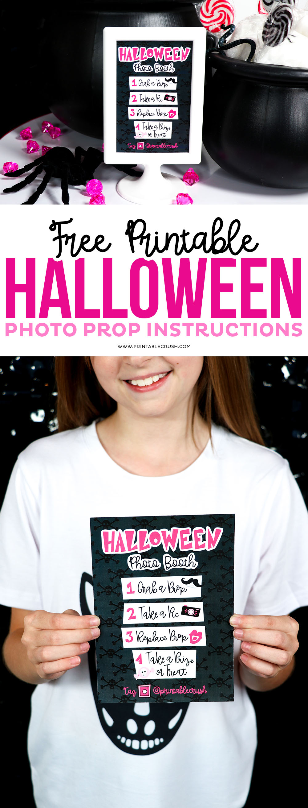 Halloween Photo Booth Instructions Free Printable
