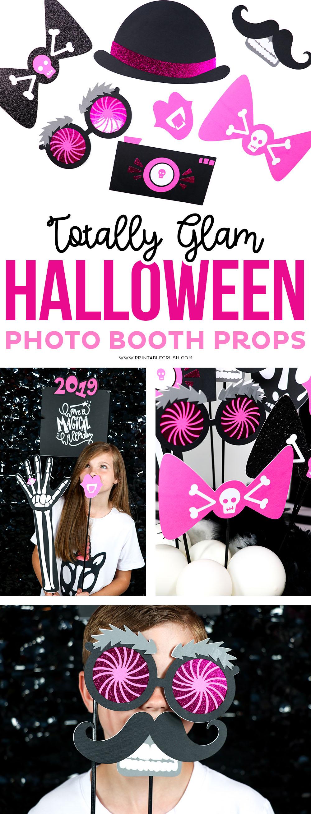 Glam Halloween Photo Props