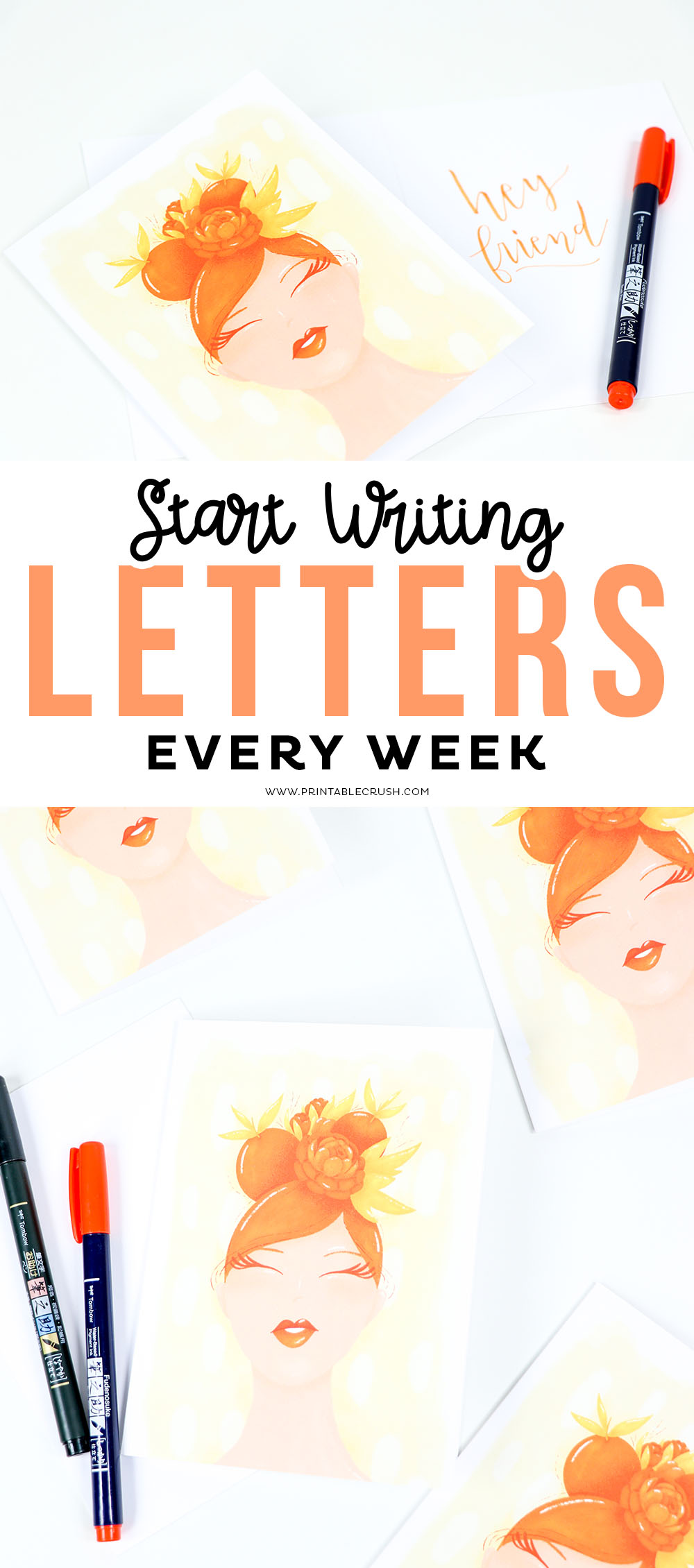 Start writing Letters EVERY WEEK with the One Per Week Subscription Box #letters #cards #oneperweek #artonacard via @printablecrush