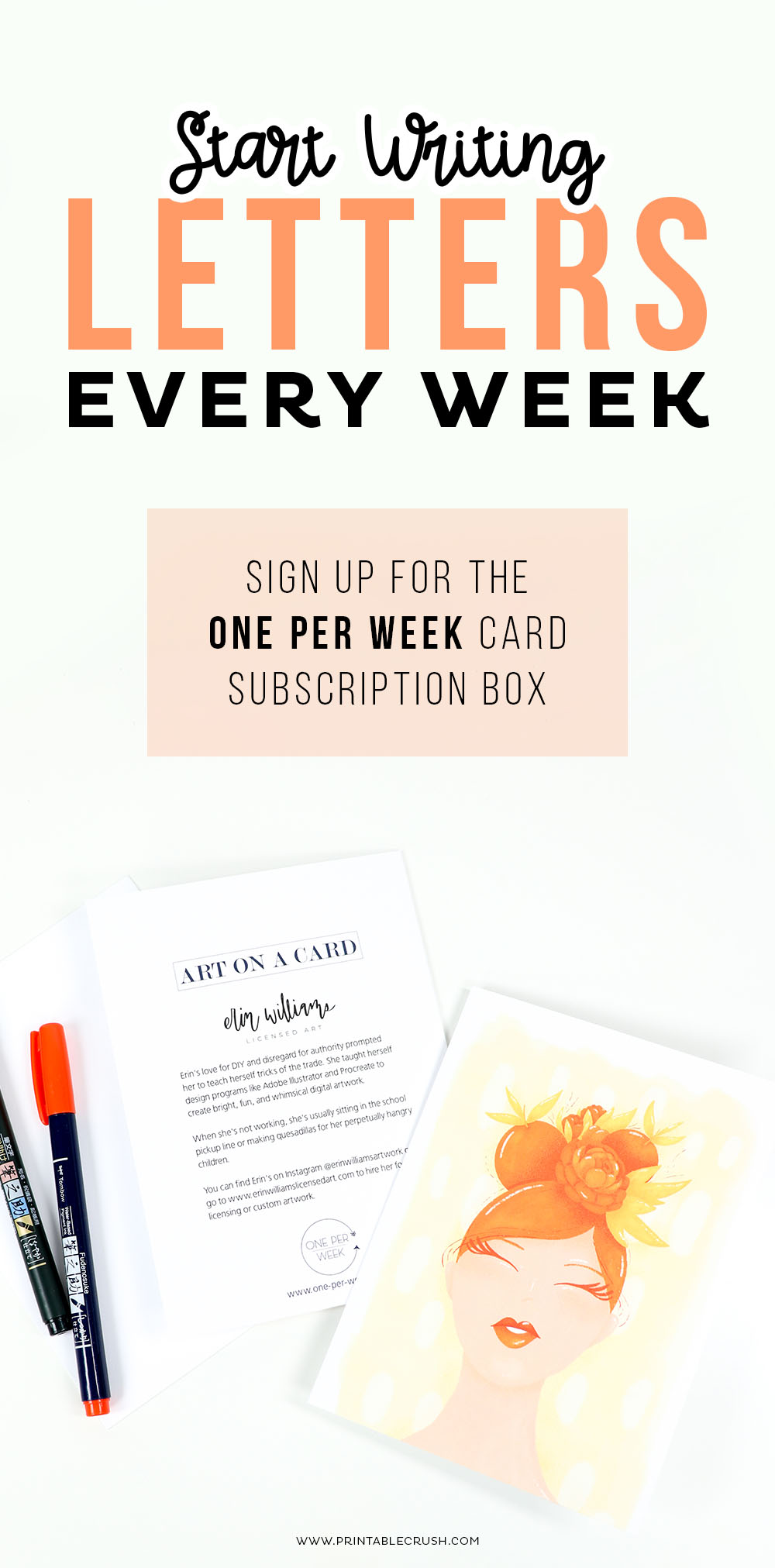 Start Writing Letters every week with a One Per Week Card Subscription Box