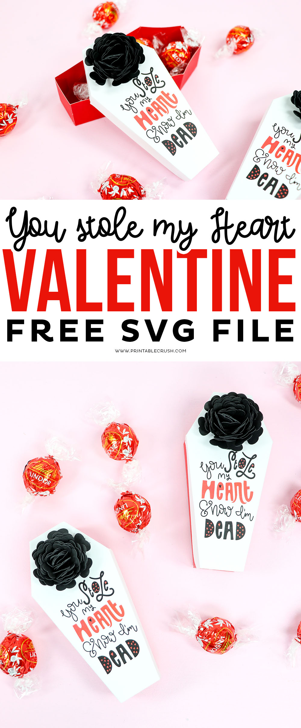 You Stole My Heart and Now I'm Dead Valentine Free SVG File #freesvgfile #valentinesday #valentinecraft #svgfiles #cricutcrafts
