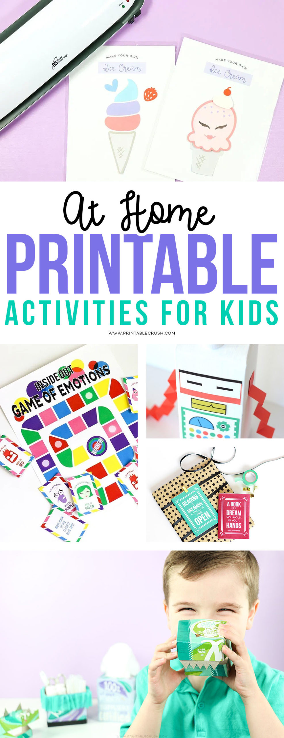 At Home Printable Activities for Kids via @printablecrush