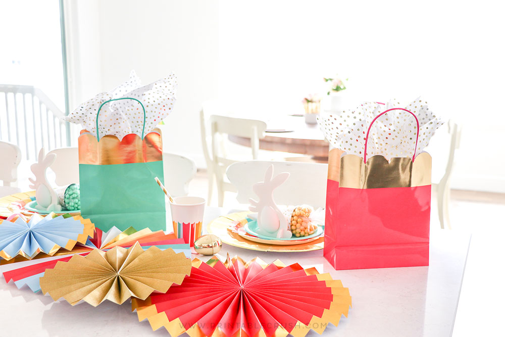 Decorate a kiddie table for Easter