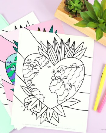 Earth Coloring Page - free download