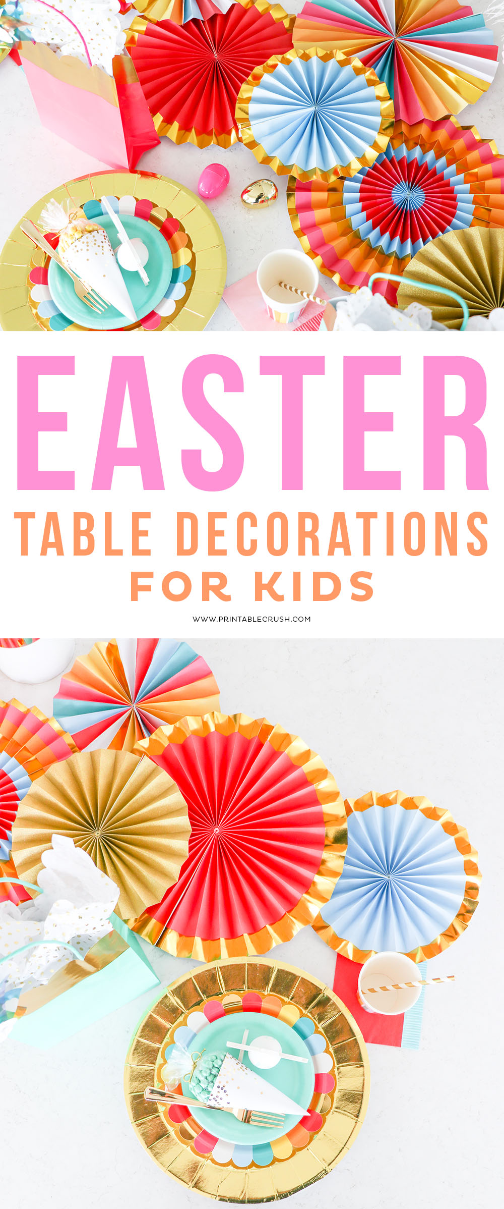Easter Table Decorations for a Kiddie Table