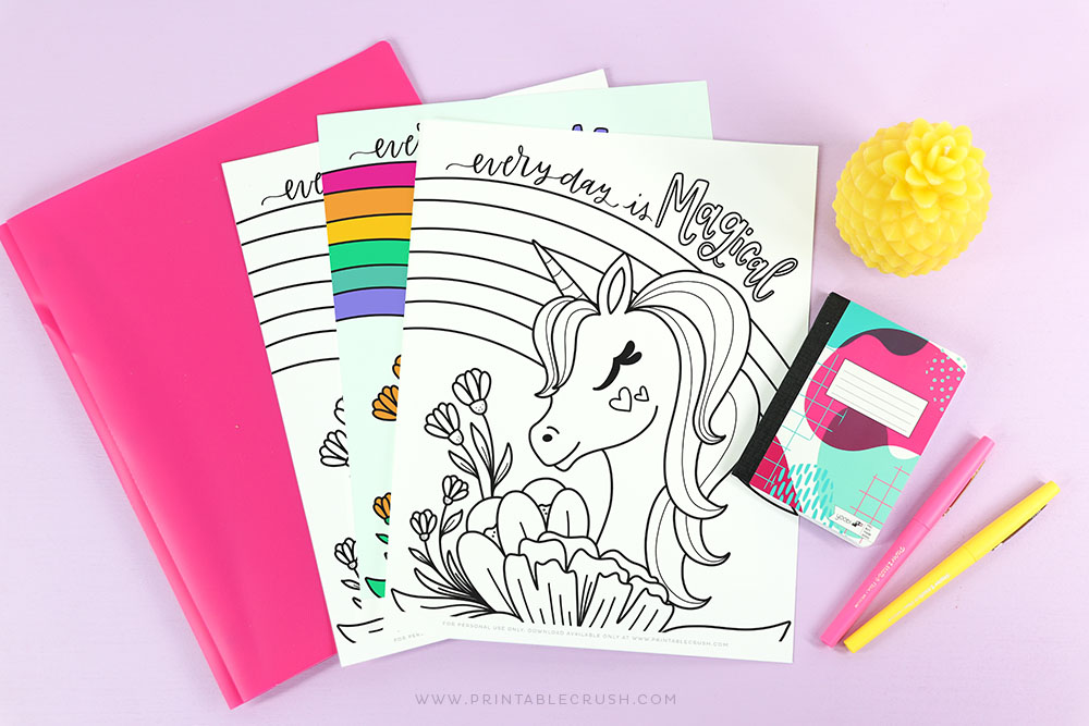 Free Download Unicorn Coloring Page