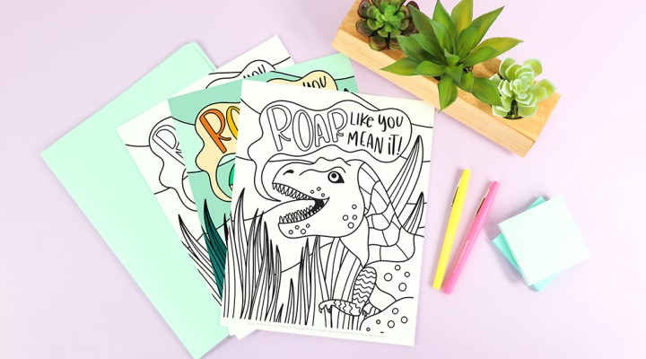 free dinosaur coloring sheet