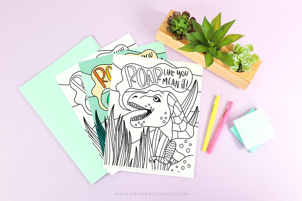 free dinosaur coloring sheet