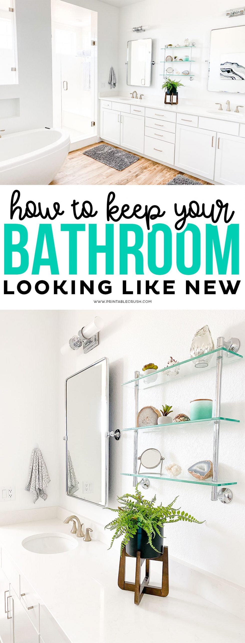 Clean your bathroom so it looks like new - Printable Crush