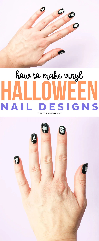 DIY Halloween Nail Designs - Printable Crush