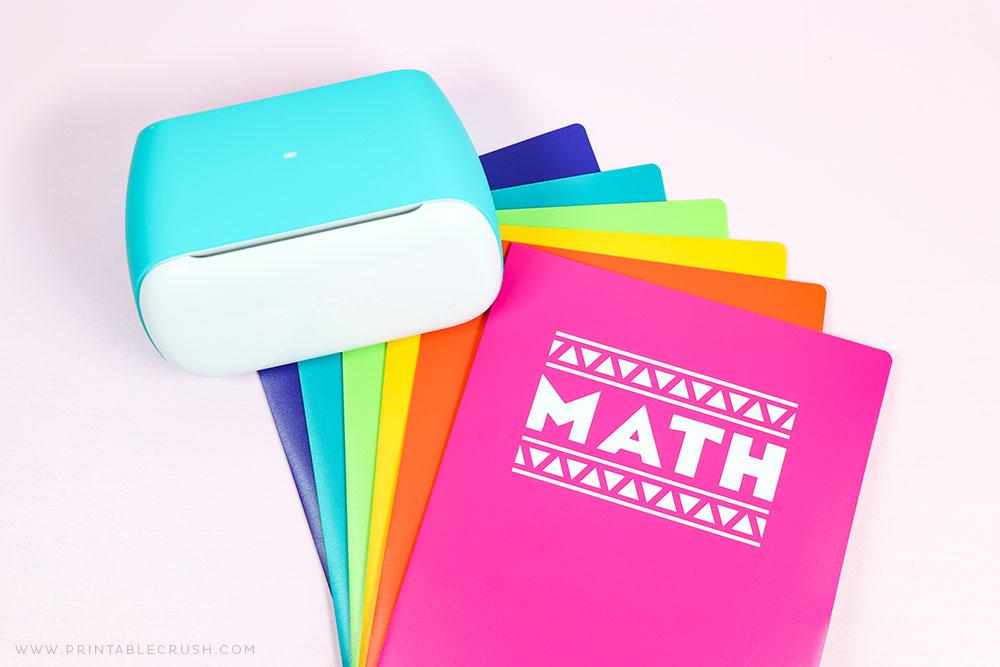 DIY School Folders - Cricut Joy - Printable Crush