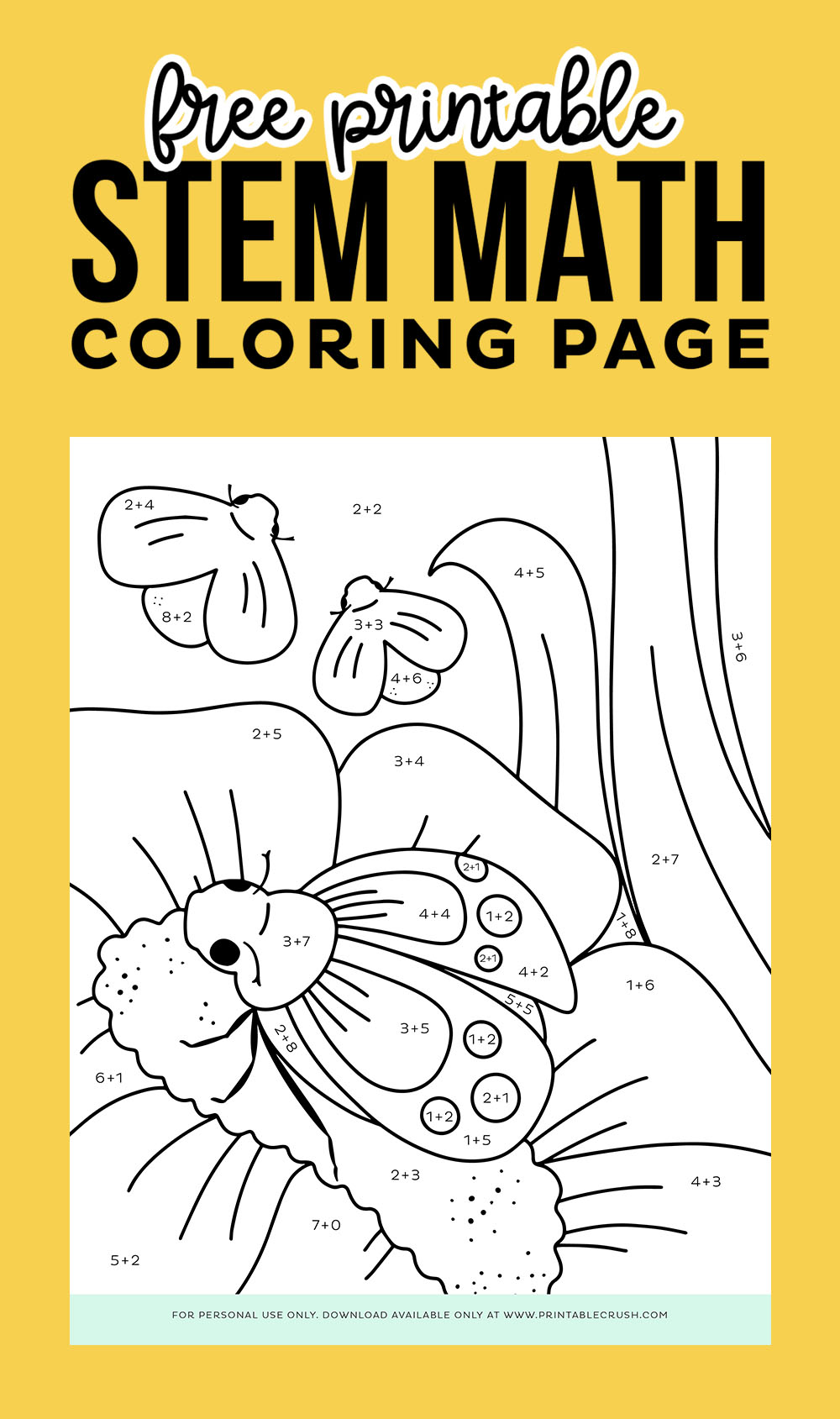 Free Printable STEM Math Coloring Page
