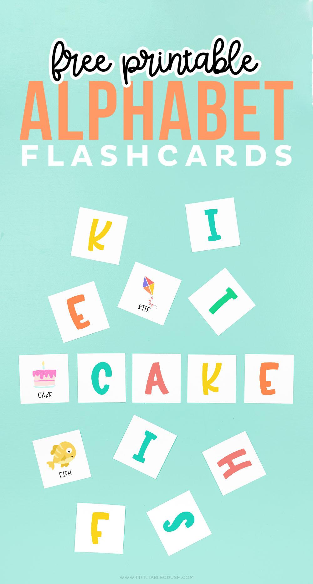 Free Alphabet Flashcards for kindergartners - Printable Crush