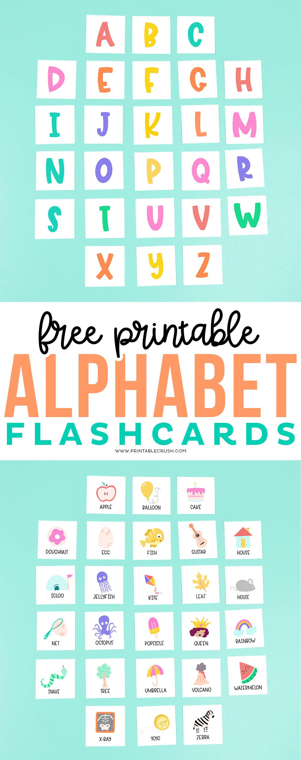 Free Printable Alphabet Flashcards - Printable Crush #homeschooling #freeprintables #freeprintable #kidactivities #alphabetprintables #alphabet #learningactivities #homeschoolprintables via @printablecrush