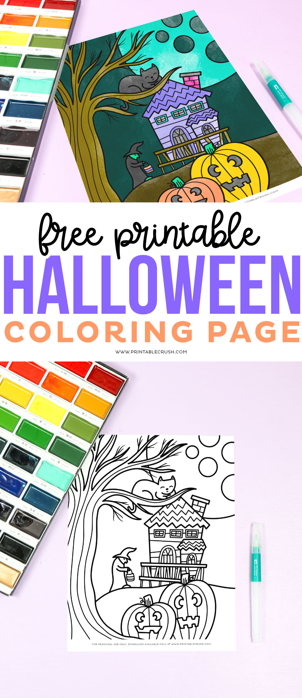 Free Printable Halloween Coloring Page - Printable Crush