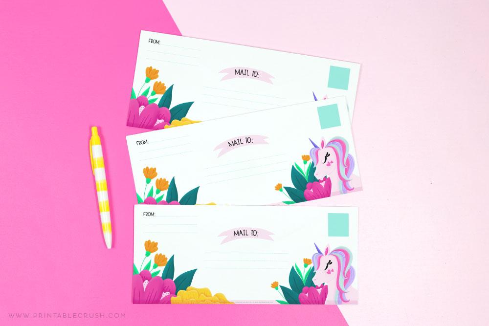 Free Unicorn Envelopes - Printable Crush