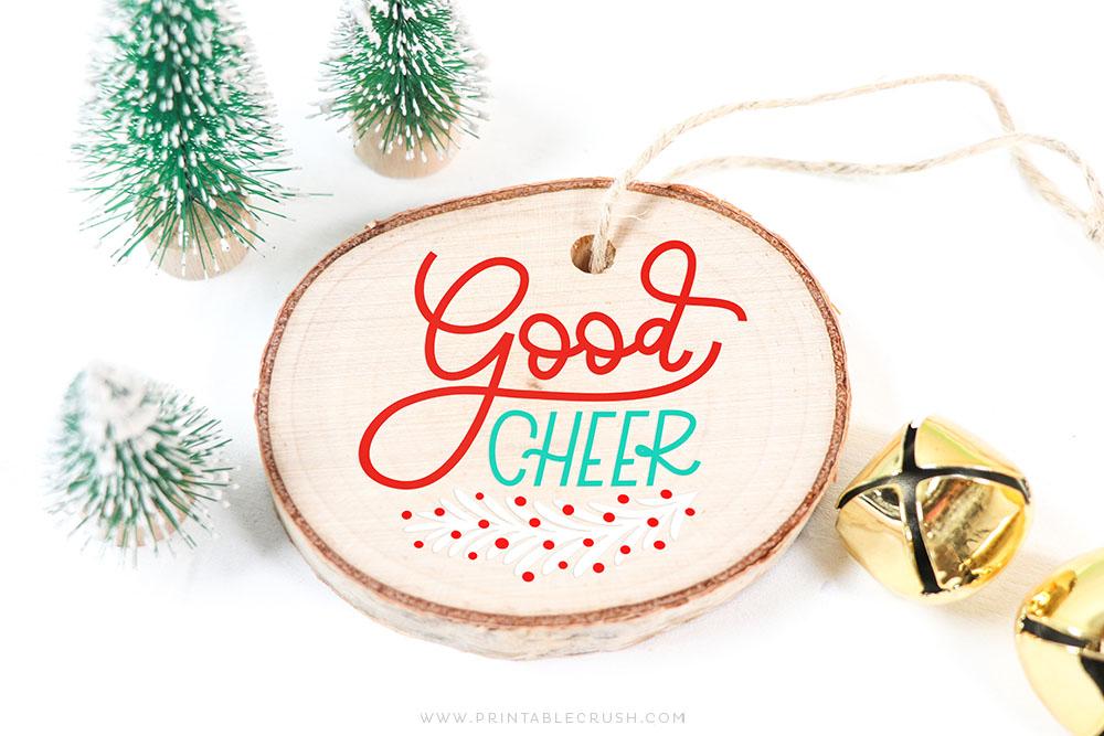 Wood Ornament DIY with Cricut Machine - Free SVG File - Free Christmas Ornament SVG File - Printable Crush