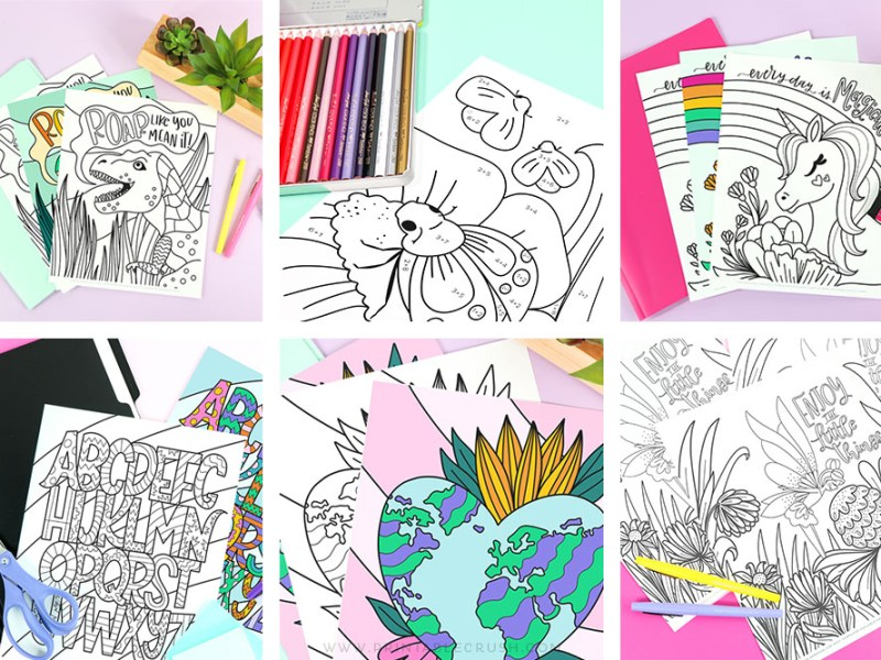 Over 13 Free Coloring Pages - Free Themed Coloring Pages - Printable Crush