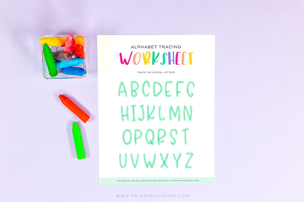 Alphabet Worksheet for Early Education - Teacher printables - Printables for teachers - homeschool printables - Alphabet printables - Printable Crush