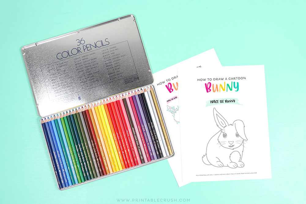 Easter Bunny Printable Drawing Tutorial - Printable Crush