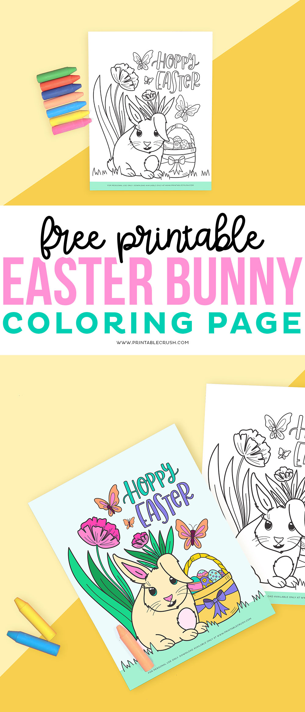 Free Printable Coloring Page for Easter - Free Easter Coloring Page Printable - Printable Crush