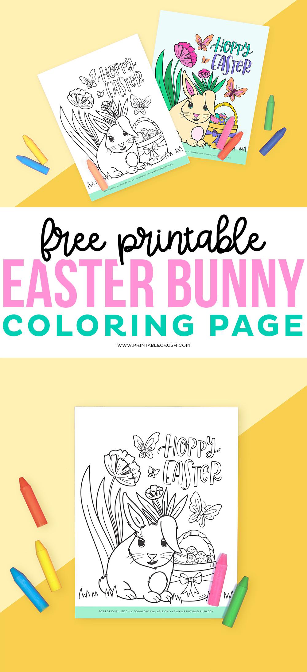 Free Printable Coloring Page for Easter - Free Easter Coloring Page Printable - Printable Crush #easter #easterprintable #easterbunny #eastercoloringpage #easterbunnycoloringpage #printablecoloringpage via @printablecrush