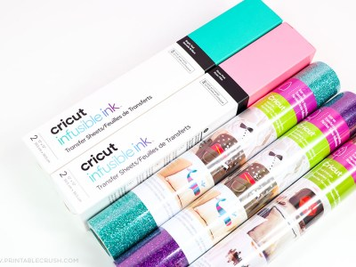 There are so many materials you can cut with the Cricut - Cricut Infusible Ink and iron on materials - What is a Cricut - Printable Crush