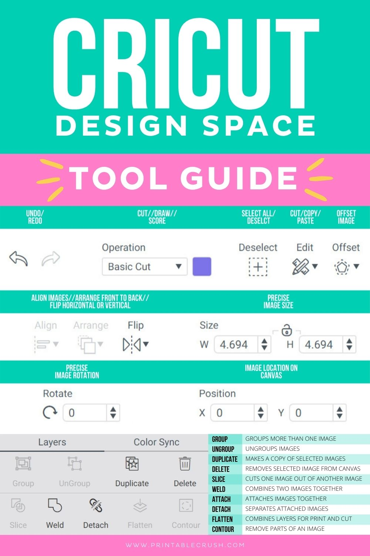Cricut Design Space Tool Guide