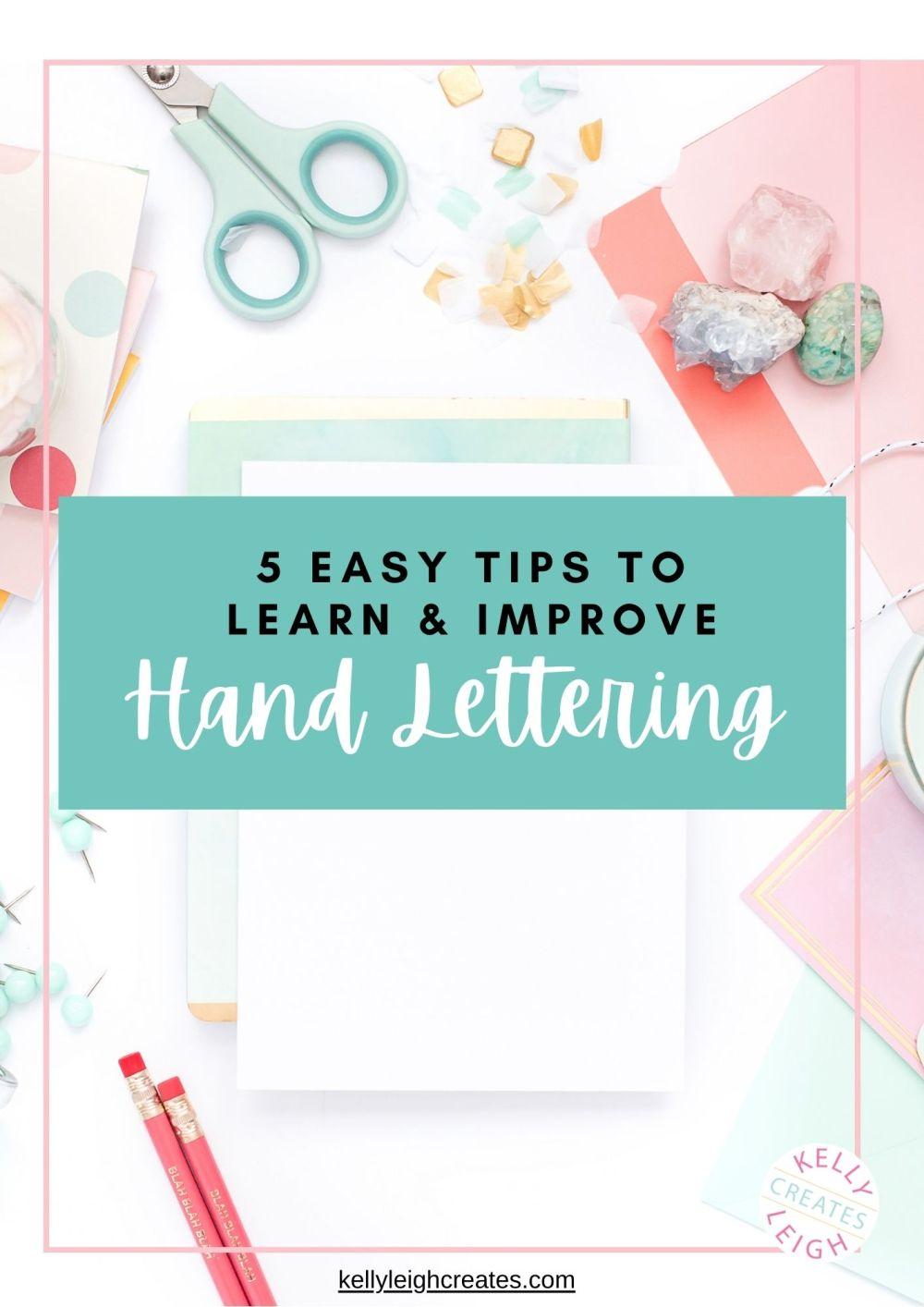 5 Easy Tips to Improve Hand Lettering via @printablecrush