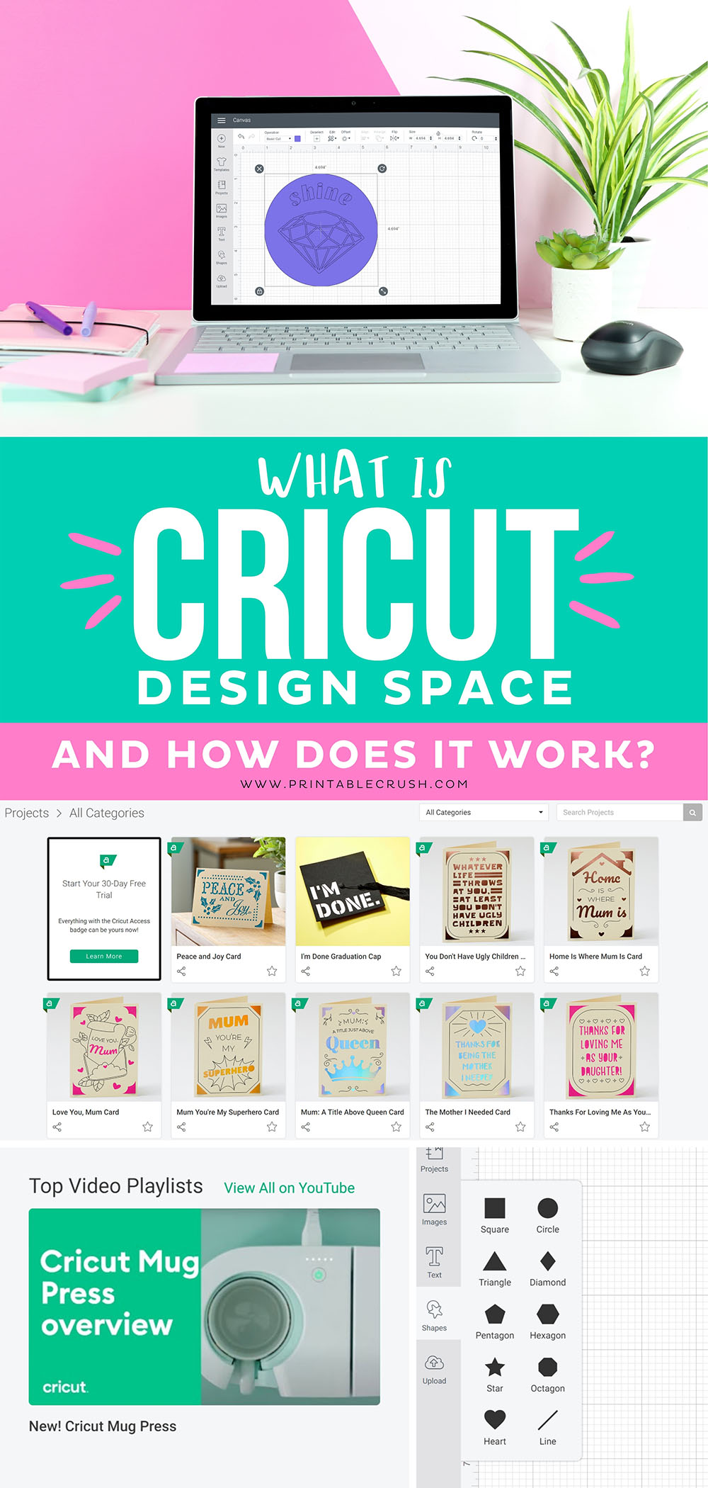 Learn how to use Cricut Design Space for your Cricut Machine