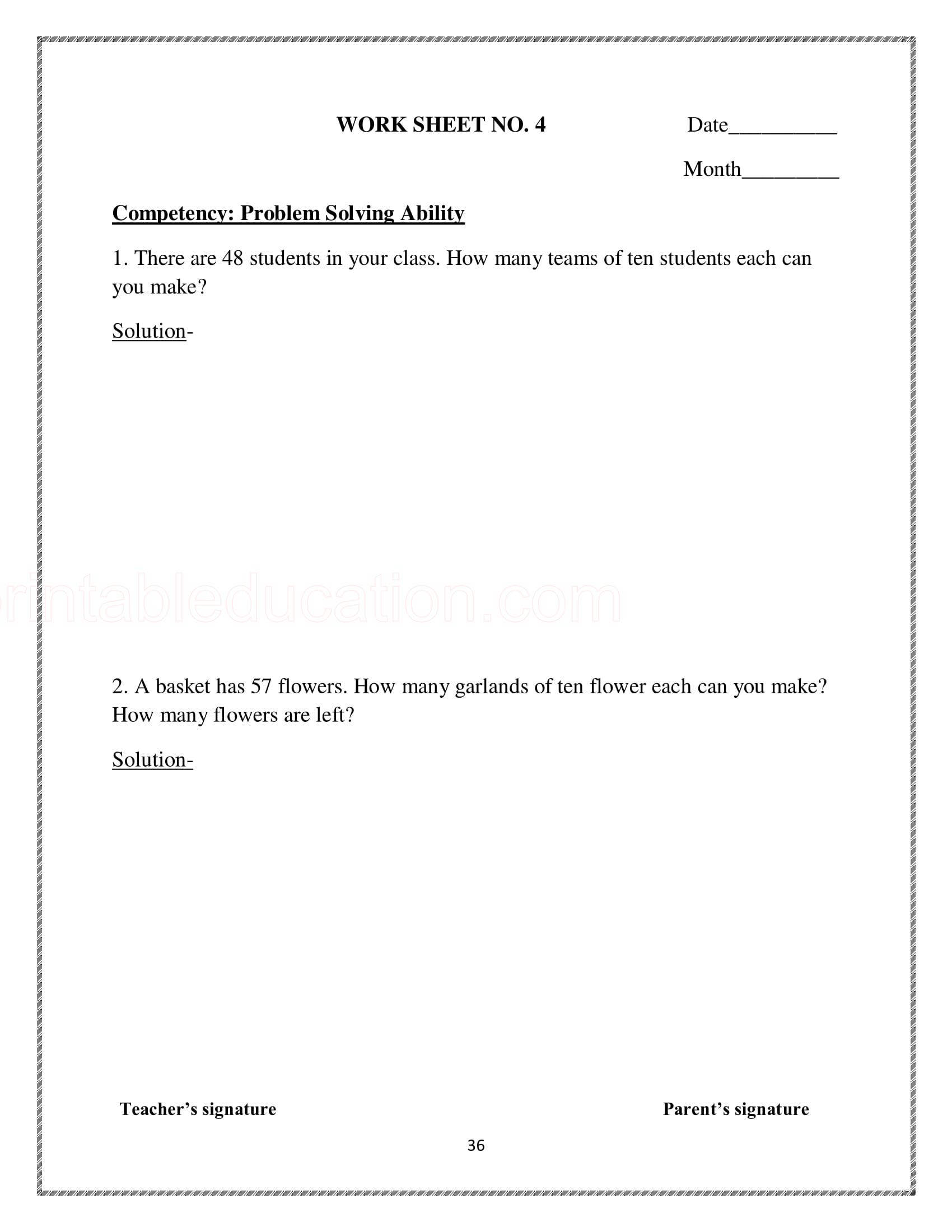 Math Place Value Practice Worksheets