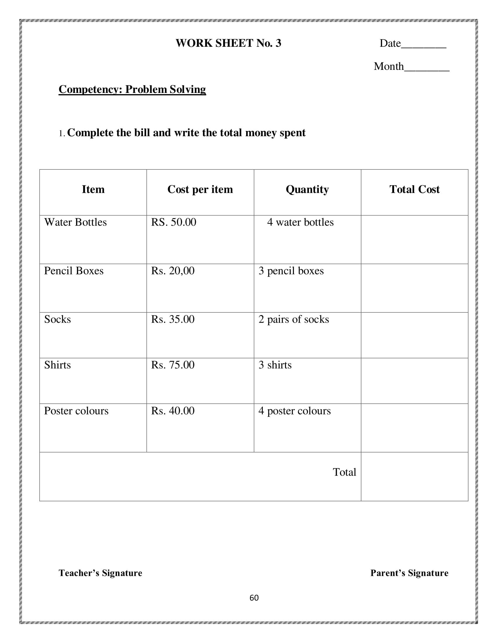 10 Math Money Worksheet For Kids